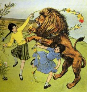 Cover illustration by Pauline Baynes for C. S. Lewis's The Lion, the Witch, and the Wardrobe